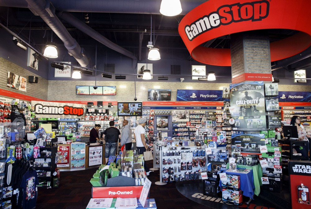 Inside GameStop Store